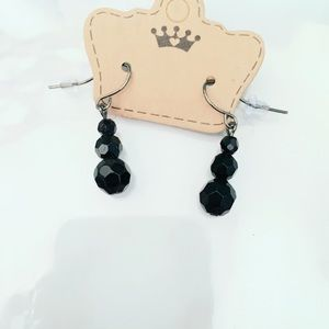 Jewelry - Black Beaded Earrings Glitzy